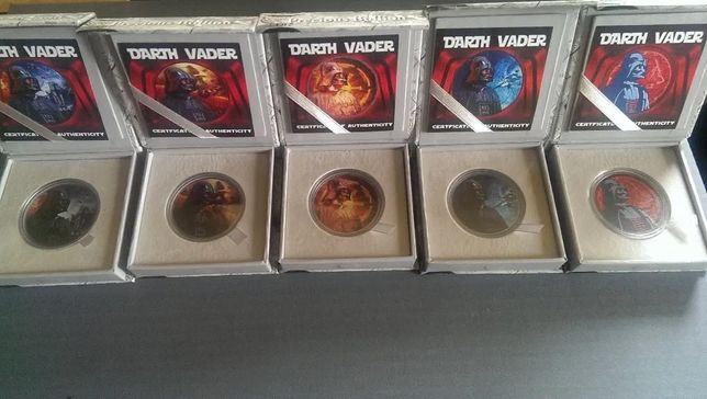 Monety kolekcjonerskie Darth Vader