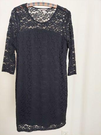 Czarna koronkowa sukienka H&M rozmiar XL