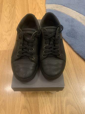 Кожаные туфли Ecco,в отличном состоянии,стелька 24,размер 37