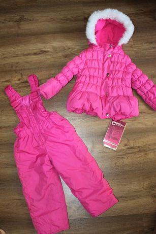 Детский зимний раздельный комбинезон штаны куртка двойка на девочку 2