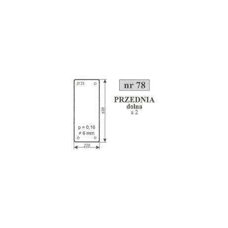Szyba przednia dolna lewa Ursus 4512 , 5314 MF 255 ACX187
