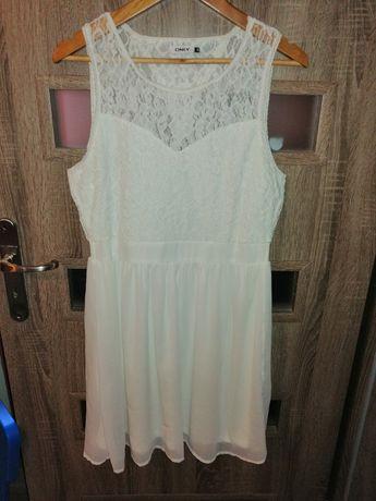 Sukienka biała Only koronka rozmiar 38/M. Stan jak nowa