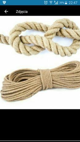 Linka jutowa powróz sznurek juta naturalna 50 mb fi 8