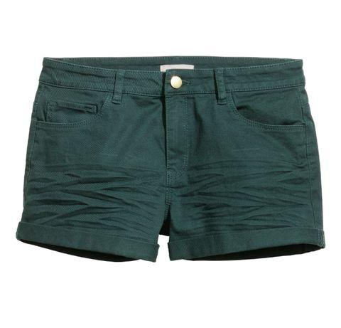 H&M super szorty spodenki jeansowe zielone khaki NOWE hit lata XXS /32
