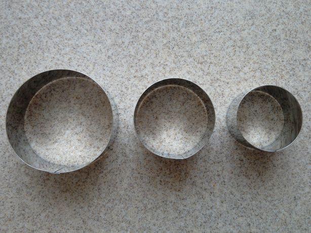 Набор круглых кулинарный, формовочных колец 3 шт.