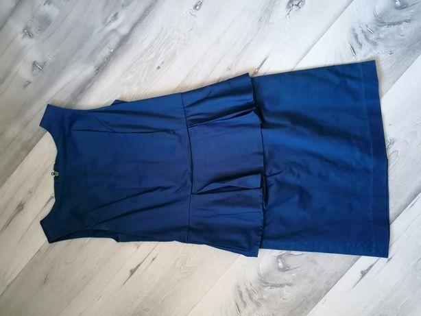Sukienka granatowa baskinka roz 38