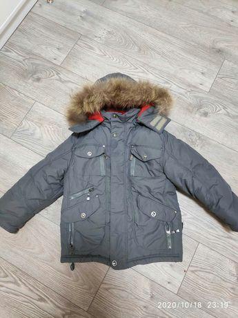 Очень тёплая зимняя куртка, идеальное состояние, на р. 110