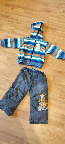 Bluza i spodnie ocieplane Kubuś Puchatek 80/86