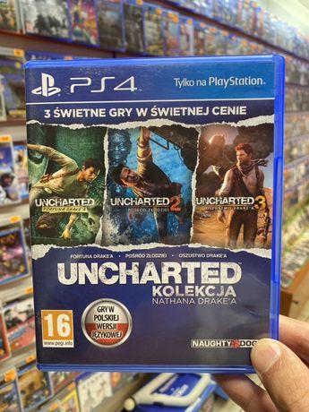 Uncharted Kolekcja 3 części PL PS4 * Sklep Bytom