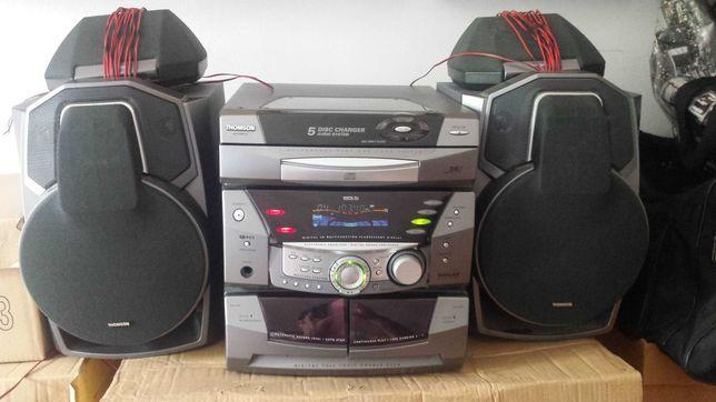 Aparelhagem THOMSON Altima 380_CD_Cassete_Rádio_colunas Surround
