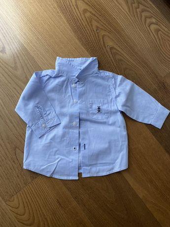 Elegancka , błękitna koszula Benetton