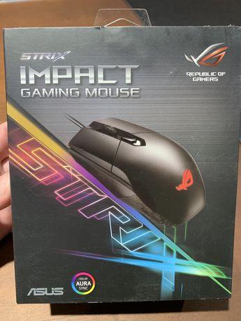 Мышка игровая, ASUS ROG Strix Impact USB Black