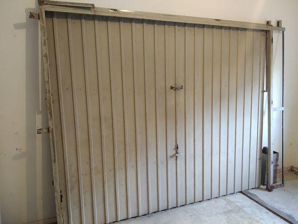 Portão de ferro basculante garagem