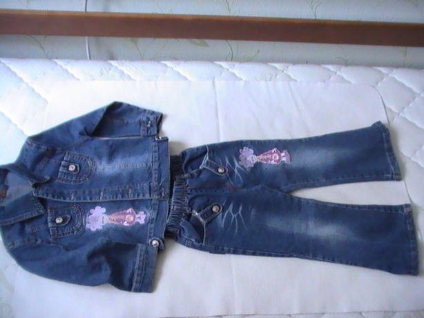 Джинсовый костюм, девочка 4-5 лет
