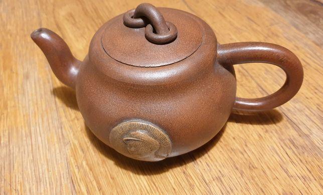 Чайник исинская глина 100% ручная работа редкий , коллекционный