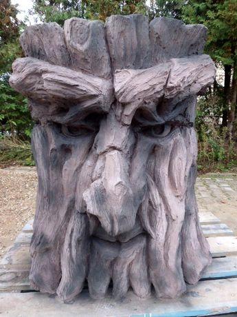 Grill ogrodowy betonowy Dekor Maska Rzeźba Drzewiec