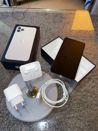 iPhone 11 Pro Max Silver, 256GB, idealny