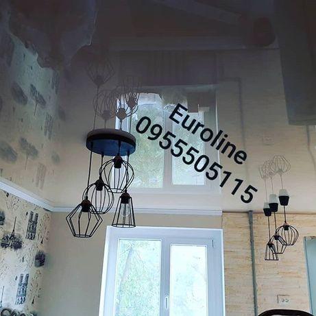 Натяжные потолки EuroLine Пластиковые окна, балконы