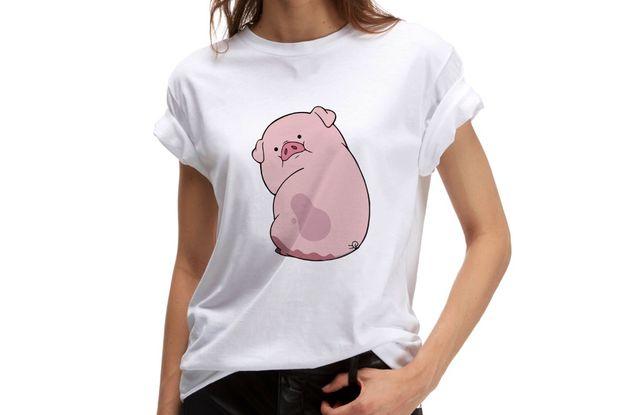 Koszulka z nadrukiem piggy