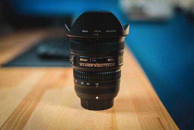 Nikon Nikkor AF-S 18-35 mm f/3.5-4.5G ED Stan Idealny