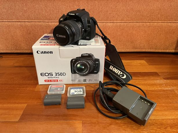 Canon EOS 350d objectiva 18-55mm