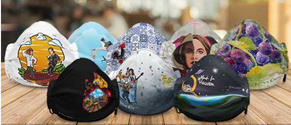 Máscara certificada reutilizável desenhos exclusivos (Queen/Portugal)