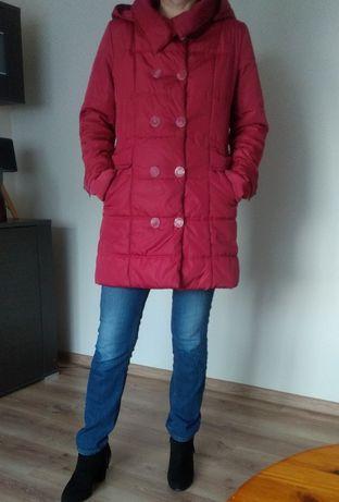 Bardzo ciepła ruda kurtka zimowa