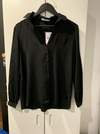 Koszula Mango nowa czarna suit biznesowa