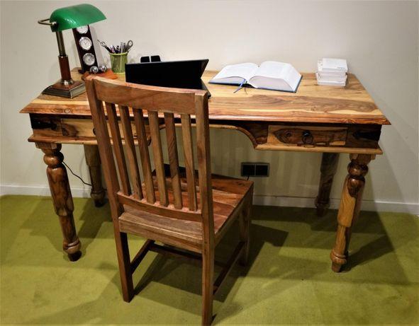 Biurko sekretarzyk / toaletka kolonialna z krzesłem z salonu AlmiDecor