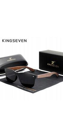 Okulary przeciwsłoneczne KINGSEVEN UV400 drewniane