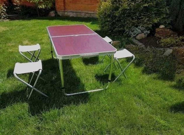 Стол Чемодан Раскладной Для пикника с 4 стульями Rainberg