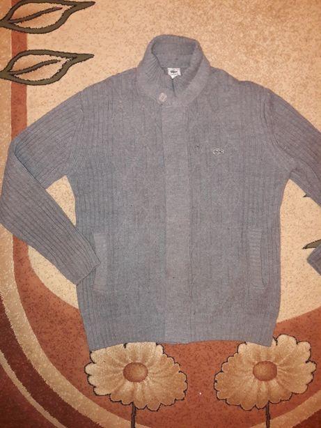 Lacoste szary meski sweter r. L