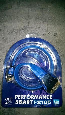 Qed P2105 - kabel euro, scart - 0,5m