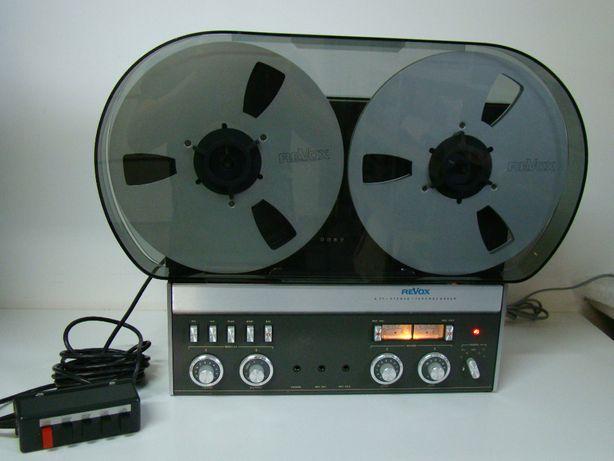 Magnetofon Revox A-77 2 track, pokrywa, NAB, Szpule, pilot