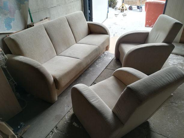 Sofa plus dwa fotele stan bdb