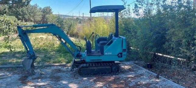 Mini escavadora Kobelco SK014