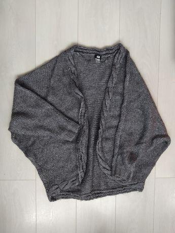 Damski kardigan szary - H&M (rozmiar One Size)