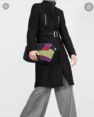 Zara płaszcz wełniany wełna XL