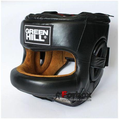 Шлем боксерский с бампером из натуральной кожи