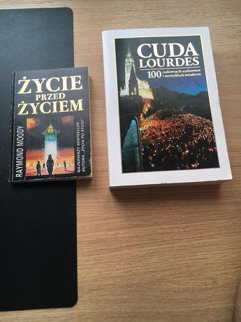 """Książki pt """"Cuda Lourdes"""" oraz """"Życie przed życiem"""" Raymond Moody"""