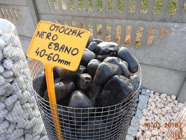 Kamień Otoczak Nero Ebano Do Ogrodu worek 25 kg