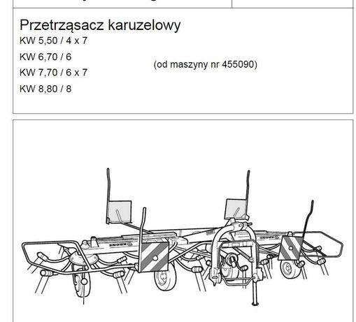 Instrukcja obsługi przetrząsacz karuzelowy  Krone KW 5,50- KW 8,80