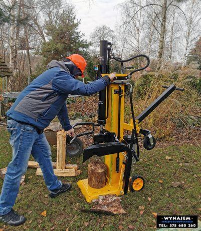 Łuparka do drewna wynajem spalinowa elektryczna hydrauliczna rębak