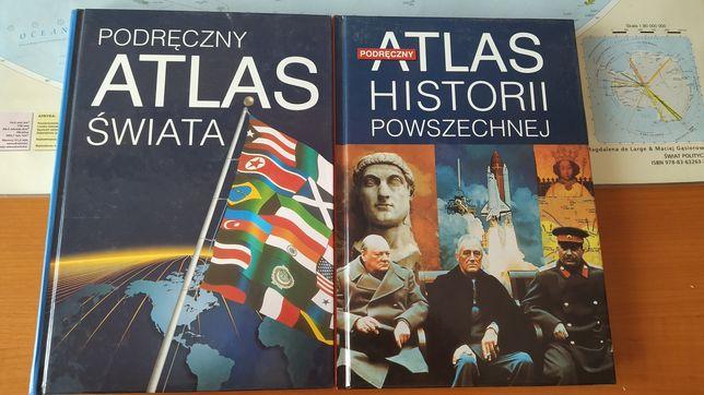 Podręczny atlas świata i podręczny atlas historii powszechnej