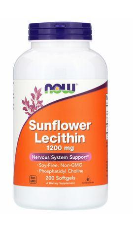 Лецитин Now Foods, Sunflower Lecithin, 1,200 mg, 200 шт