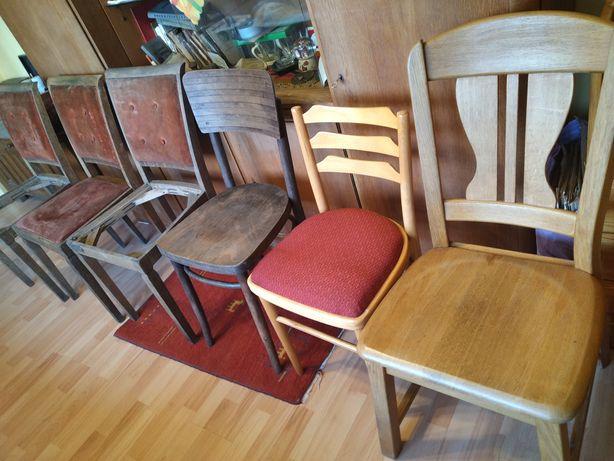 Stare drewniane krzesło do renowacji