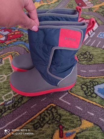 Детские сапоги crocs lodgepoint snow boots, 100% оригинал