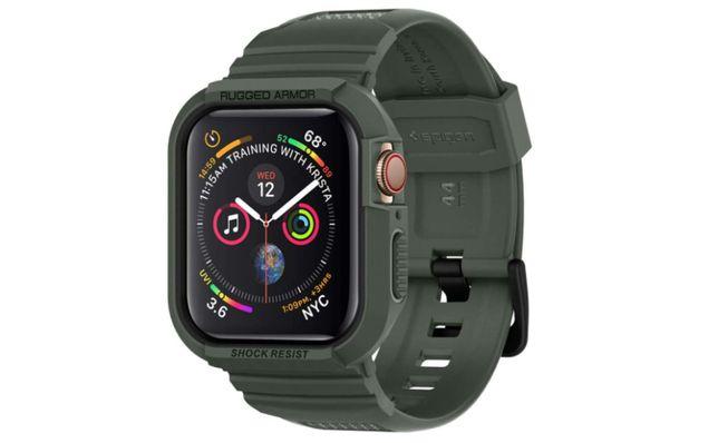 Protetor Apple Watch Series 3/4/5/6 - 44 mm - Verde militar