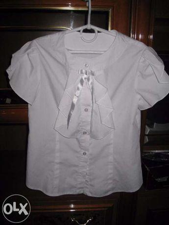 блуза школьная р 146,152, хлоп-96% состояние идеальное