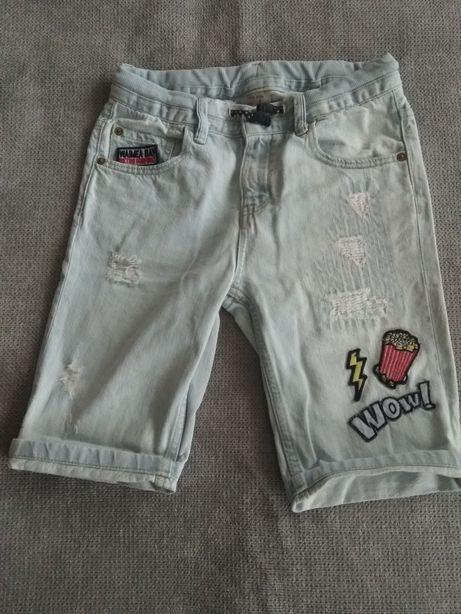 Spodenki jeansowe 128 Zara